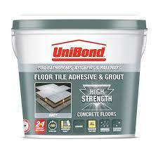 unibond ceramic floor tile adhesive grout grey at homebase co uk