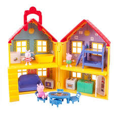 peppa pig peppa s deluxe house play set walmart com