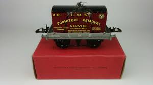 "Hornby Series RS 713 FLAT TRUCK With CONTAINER ""LMS"