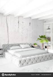 loft schlafzimmer in modernem interieur design mit