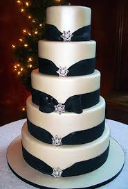Black And White Wedding Cake Picture
