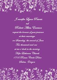 Invitations Pretty Purple Wedding For Charming