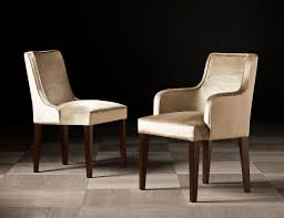 Parsons Dining Chairs Upholstered by Nella Vetrina Isabey 2 Italian Dining Arm Chair Upholstered Gold