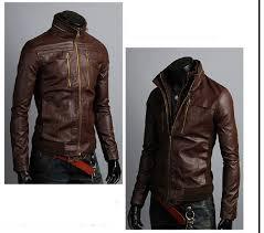 men u0027s leather jackets korea style casual slim fit biker leather