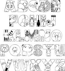 Crazy Zoo Alphabet Coloring Pages Printable Page Perfect For Teachers Homeschoolers Sunday School And