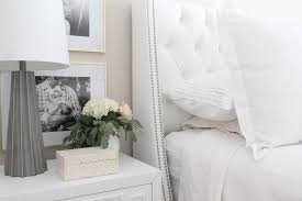 Joss And Main Wingback Headboard by 12th And White Master Bedroom Reveal