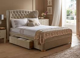 Amazing Maree Natural Velvet Effect Upholstered Bed Frame Dreams
