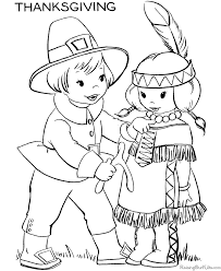 Thanksgiving Kids Coloring Pages 002
