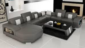 canapé cuir gris anthracite canapé d angle panoramique miami en cuir design