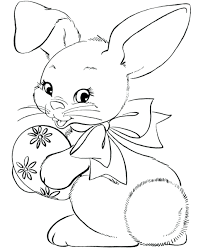 Printable Coloring Pages Of Rabbits Bunny Face Page Cartoon Baby Image Spring Full Size