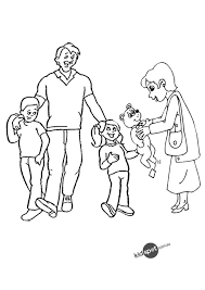 Coloring Page Family Characters 13