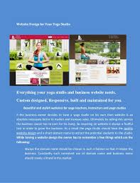 Website Design For Your Yoga Studio Everything And Business Needs