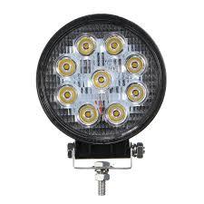 100 Led Work Lights For Trucks 27W 9LED Round Offroad Truck SUV ATV Fog Headlamp Yellow