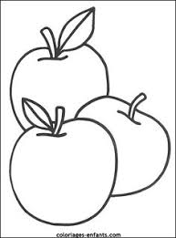 Easy Apple Coloring Page