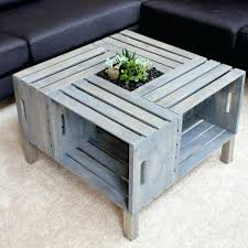 Create Your Own Coffee Table Cfee Wood Crate Diy