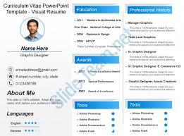 Curriculum Vitae Powerpoint Template Visual Resume Slide01 Slide02