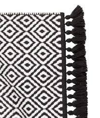 jacquard weave bath mat black white patterned home h m