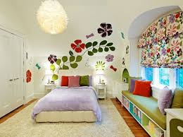 Wall Decoration Ideas Bedroom Prepossessing Design Awesome Flower Decorating Background Combination With White