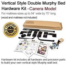 size horizontal style wall bed hardware kit easy diy