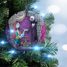 Nightmare Before Christmas Tree Toppers Bauble Set by Trend Setters Nightmare Before Christmas Jack And Sally With Zero