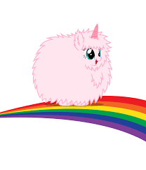 Pink Fluffy Unicorns Dancing On Rainbows Drawing