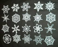 Picture Of DIY How To Make 6 Pointed Paper Snowflakes