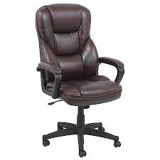 realspace fosner high back bonded leather chair 48 h x 28 38 w x