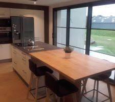 cuisine de 16m2 photos et idées cuisine avec ilot central avec hotte intégrée 340