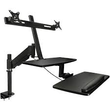 Desk Mount Monitor Arm Singapore by Mount It Mi 7902 Sit Stand Desk Mount For Dual Monitors Mi 7902