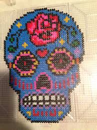 Halloween Hama Bead Patterns by Sugar Skull Pattern Perler Beads Perler Hama Beading Pinterest