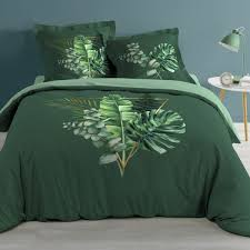 baumwoll bettwäsche 240 cm gold tropic grün