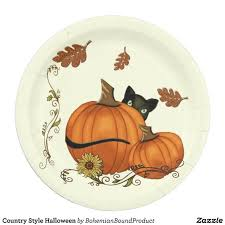 Country Style Halloween Paper Plate