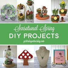 Sensational Spring DIY Projects Including A Garden Stone Fairy Mason Jar Art