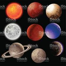 Solar system planets decorative icons set isolated royalty free