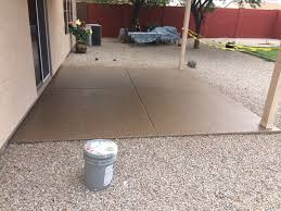 Picture Of A Recent Outdoor Patio Epoxy Floor By Barefoot In Scottsdale