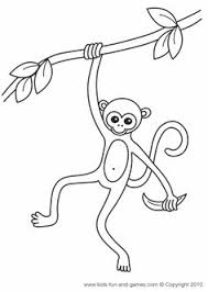 Cute Monkey Coloring Page At Kids Games Central