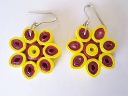 Flower Design Quilling Paper Earrings Making At Home