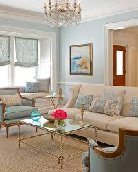 sisal rug in living room traditional with light blue next to blue
