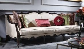 casa padrino luxus barock sofa creme braun 260 x 90 x h 95 cm wohnzimmer sofa im barockstil barock möbel