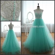 celebrity inspired mint a line prom gonw evening dress