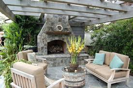 Fireplace In Backyard Garden Design With Outdoor Fireplace