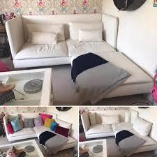 Ikea Soderhamn Sofa Bed by Ikea Soderhamn Cream Sofa And Footstool In Nuneaton