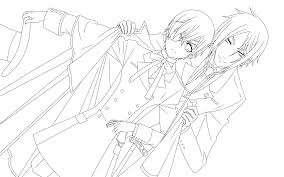 Full Black Butler Coloring Pages Undertaker Grim Reaper Page Free