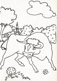 Coloriage Taureau Corrida Study42org