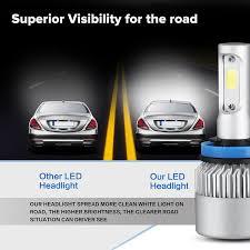 osl h11 led headlight cob 72w car led headlights bulb fog light