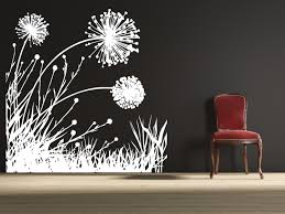 Wall Mural Decals Flowers by Wall Decal Dandelion Field Wall Decals Floral Wall Decal