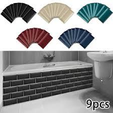 9x 3d mosaik fliesenaufkleber wandaufkleber küche bad