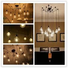vintage retro loft ajustable diy spider edison bulb black