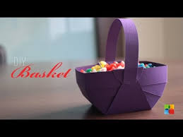 DIY How To Make Basket Out Of Craft Paper
