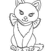 Lady Cat Coloring Page